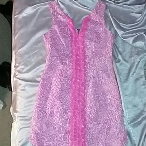 Lily Pulitzer pink sleeveless dress